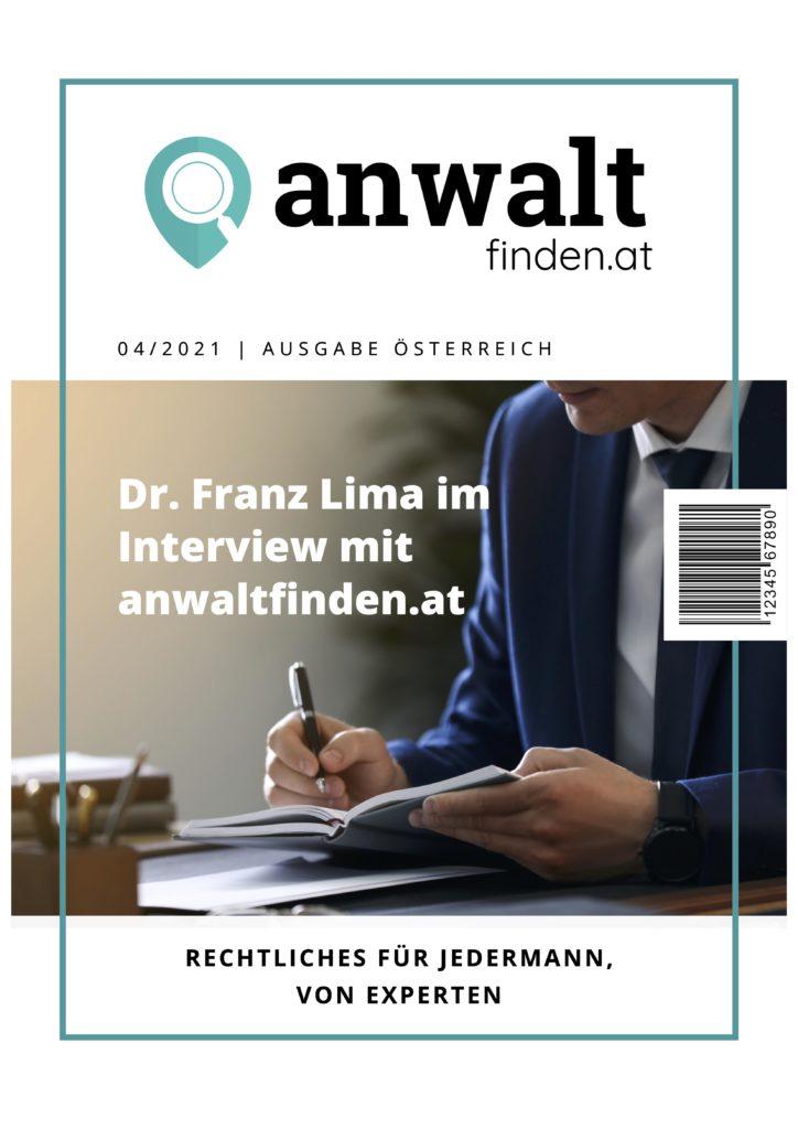 Dr. Franz Lima Interview anwaltfinden.at